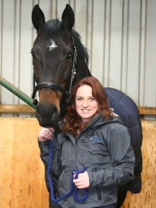Natasha Baker & Olympic star JP crop picture courtesy of Verdo Horse Bedding. Photo David Miller copy